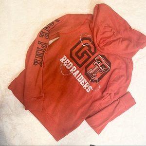 VS PINK TX TECH University zip up hoodie